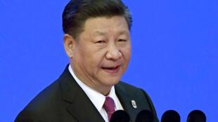 Chủ tịch Trung Quốc Tập Cận Bình tại Diễn đàn Bác Ngao, ngày 10/04/2018.