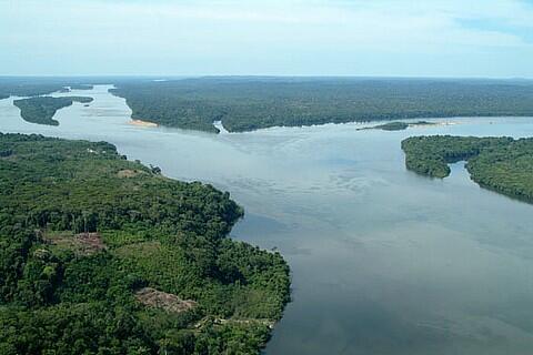 Rio Tapajós, no Pará, um dos principais da Amazônia