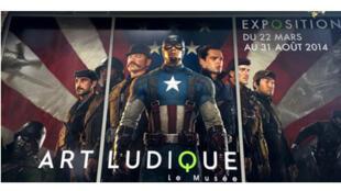 Affiche de l'exposition «Marvel».