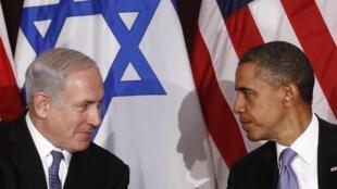 Benjamin Netanyahu y Barack Obama, en el transcurso de un encuentro en 2011.