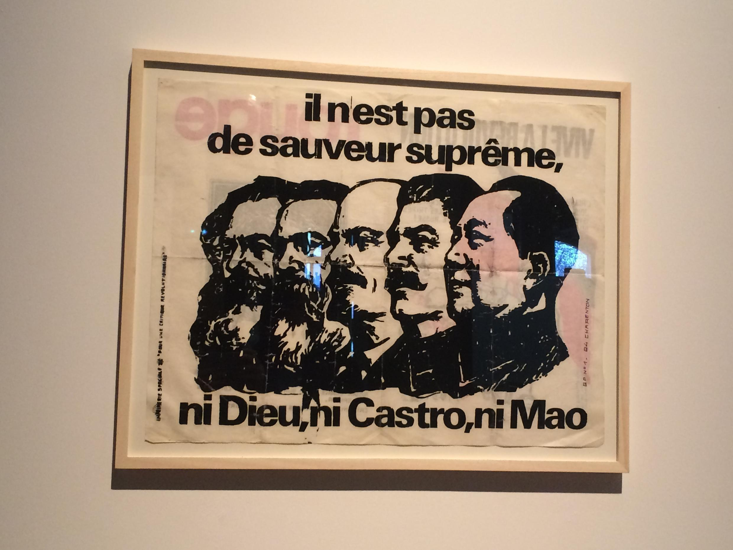 """""""There is no supreme authority, neither God, nor Castro, nor Mao"""" (anonymous) questions Maoist ideology and... Buraglio's oeuvre"""