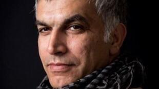 Le défenseur bahreïni des droits de l'Homme, Nabeel Rajab, a été arrêté à Manama, le 1er octobre 2014.