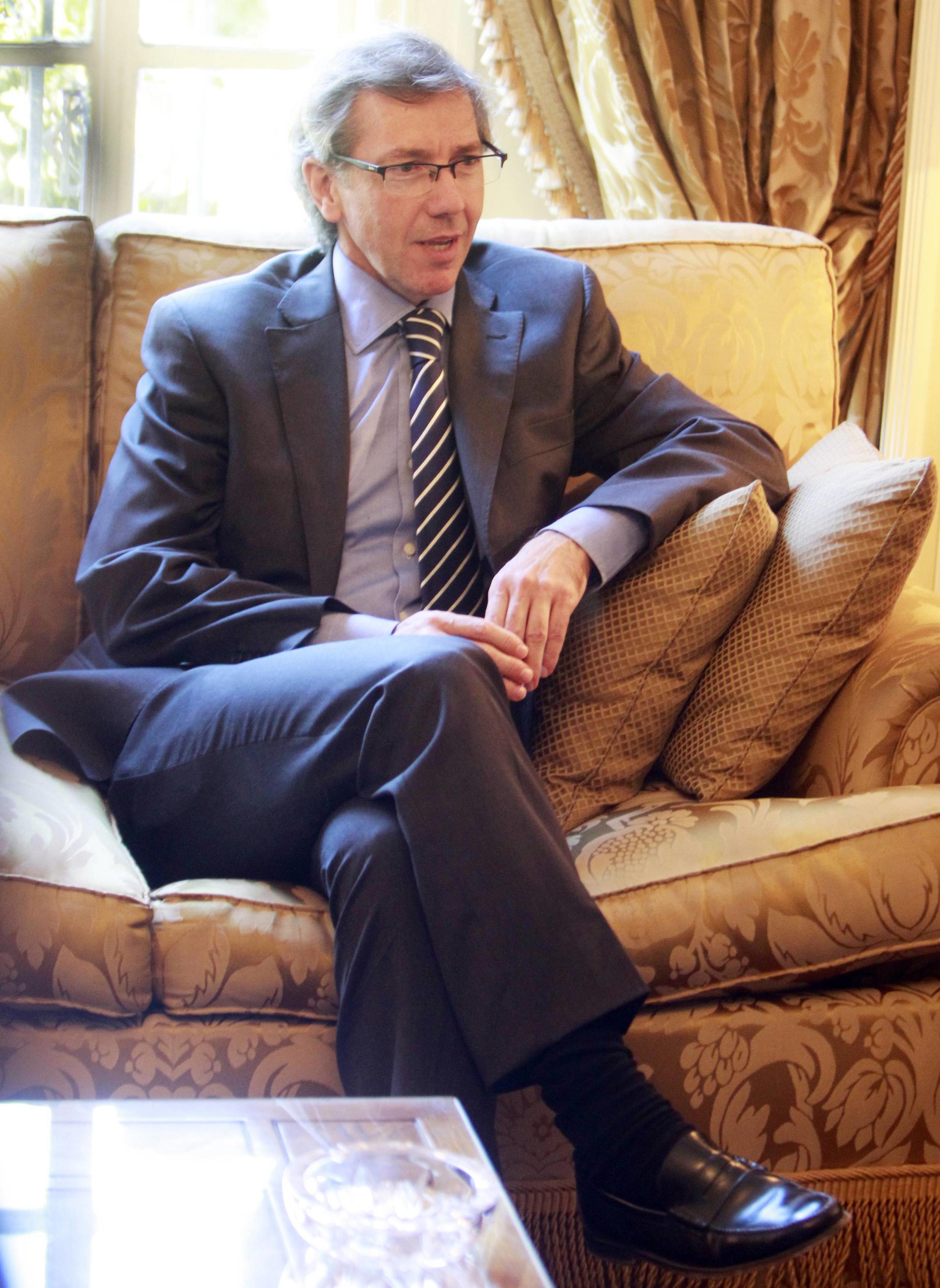 Бернардино Леон, специальный представитель ЕС в Южном Средиземноморье, во время визита в Каир 1 августа 2013