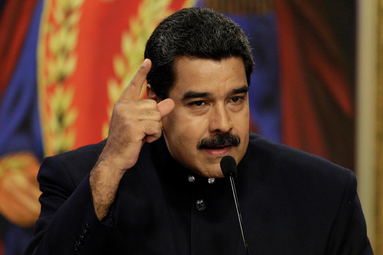 Tổng thống Venezuela  Nicolas Maduro ngày 22/08/2017 tại Caracacs.