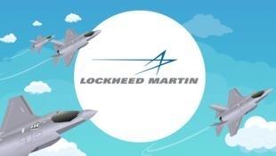 美国洛克希德马丁(Lockheed Martin)公司标识广告照片