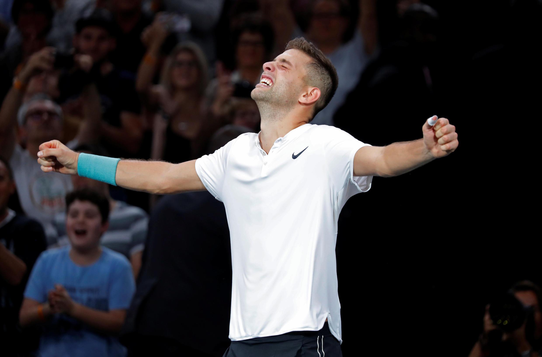 Filip Krajinovic beat John Isner to reach his first final at a Masters tournament.