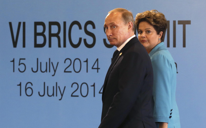 Vladimir Poutine et Dilma Roussef, au 6e sommet des Brics, le 15 juillet 2014.
