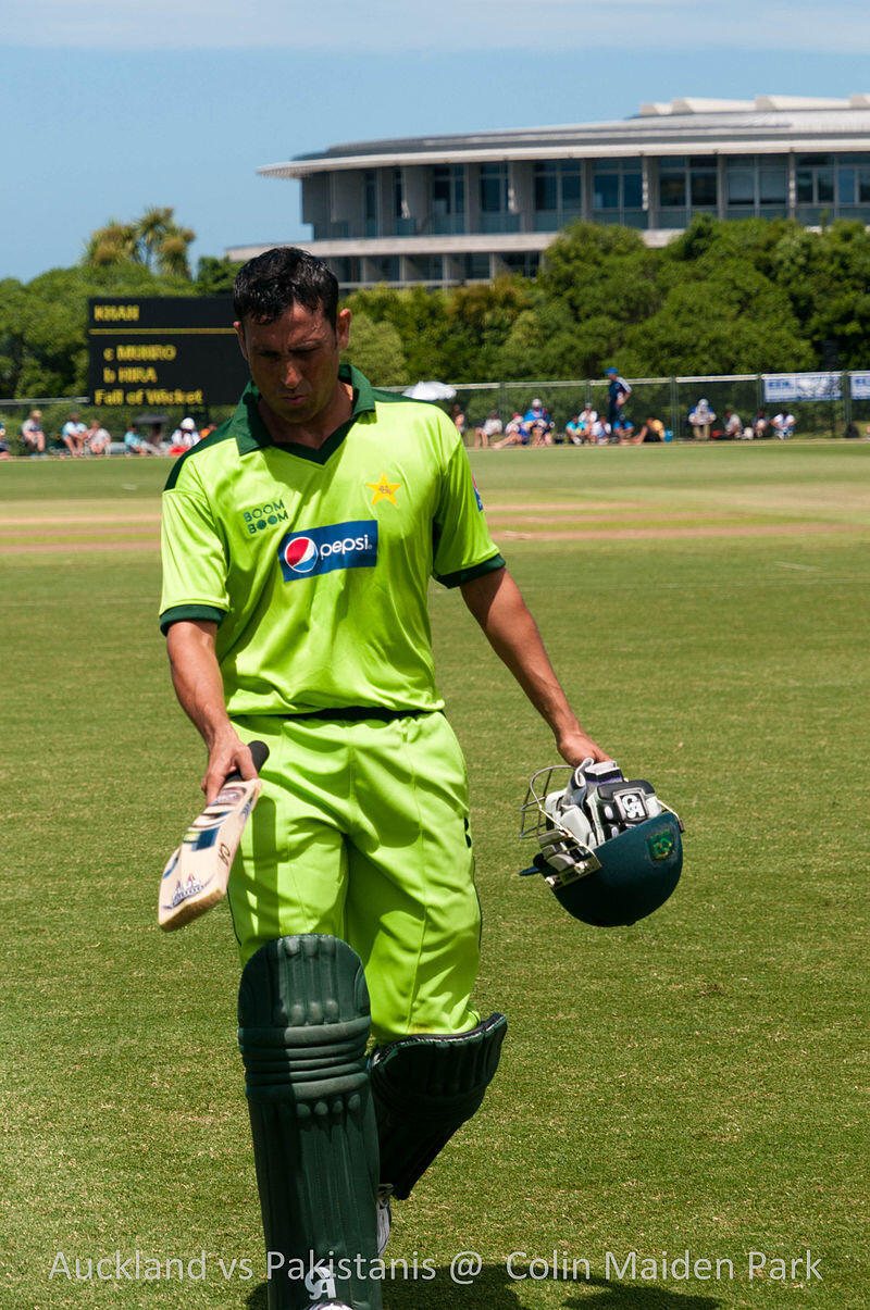 Pakistani cricketer Younis Khan