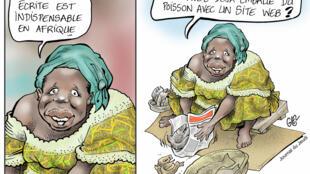 Une caricature de Damien Glez, dessinateur au Burkina Faso.