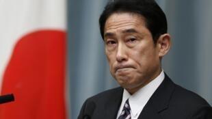 Ngoại trưởng Nhật Fumio Kishida. Ảnh chụp  trong một chuộc họp báo ngày 01/09/2014