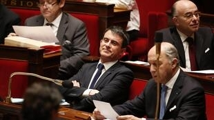 Премьер-министр Манюэль Вальс в Национальном собрании Франции 17/02/2015