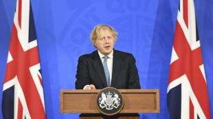 英國首相約翰遜4月5日就疫情發表講話。