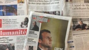 Primeiras páginas dos jornais franceses de 11/04/2018
