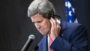 Le secrétaire d'Etat américain John Kerry en Egypte, le 13 septembre 2014.