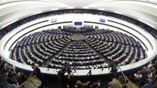 Vote au Parlement européen à Strasbourg, le 15 avril 2014.