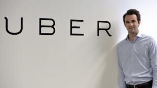 Thibaud Simphal, director general of Uber France, in Paris 19 May 2015.