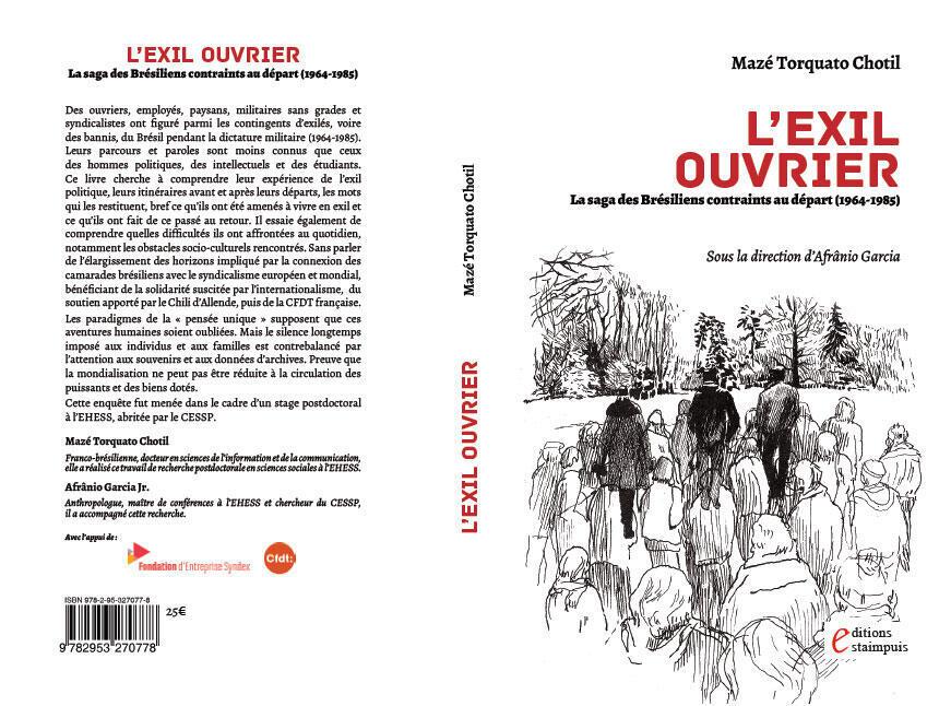 """Capa do livro """"L'Exil Ouvrier""""."""