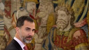 Le roi d'Espagne, Felipe VI.