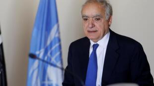 L'émissaire spécial de l'ONU pour la Libye Ghassan Salamé, à Tunis le 26 septembre 2017.