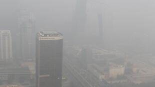 La contaminación en Pekín, el 29 de noviembre de 2011.