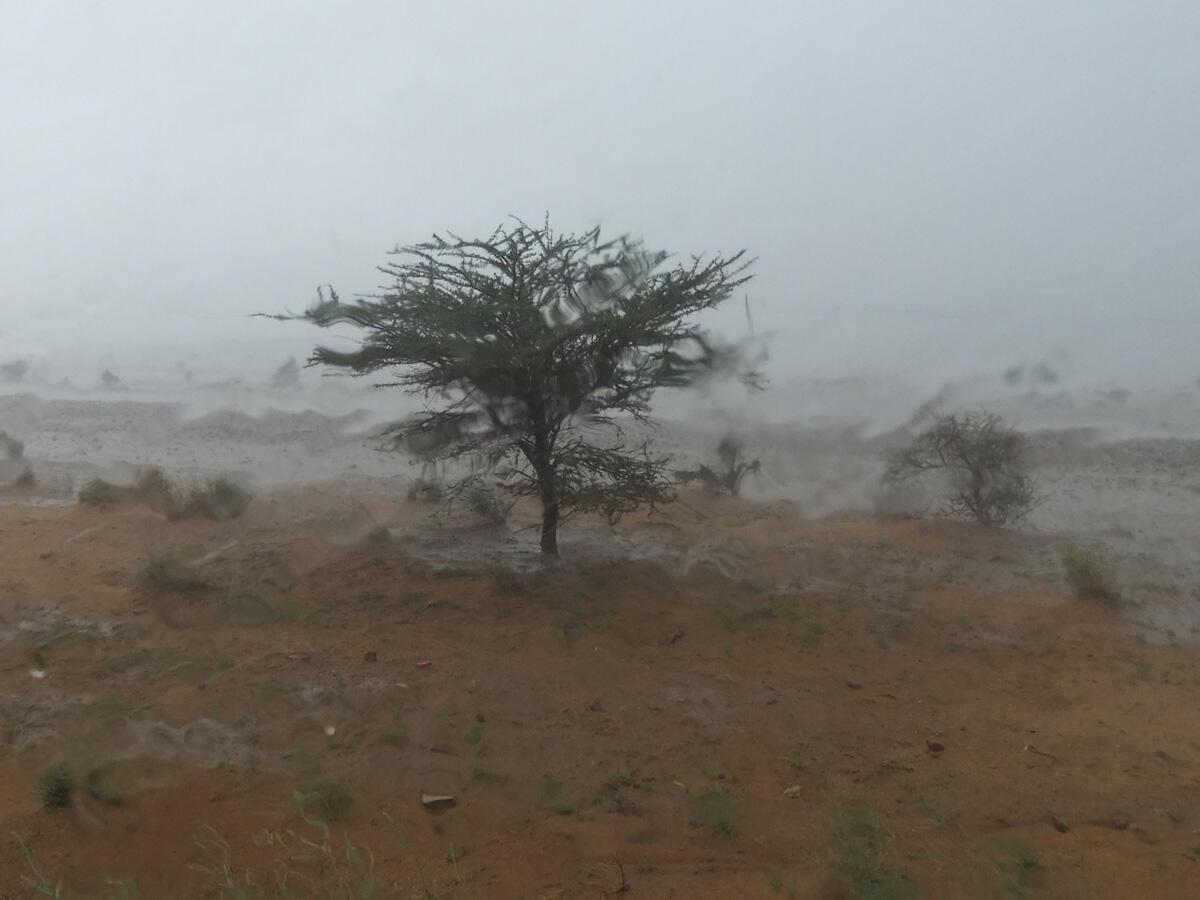 Heavy rain and wind in Agadez.