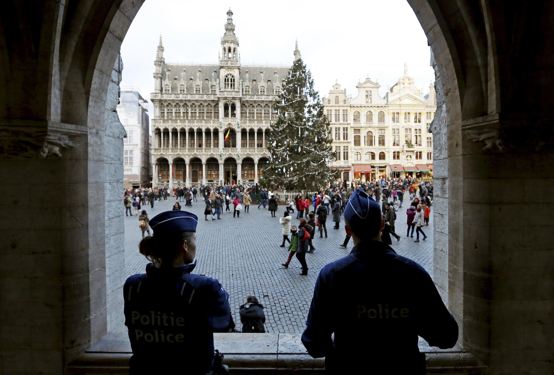 Центральная площадь Брюсселя Grand Place 29 декабря 2015.