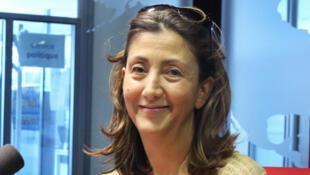 Ingrid Betancourt en studio à RFI.
