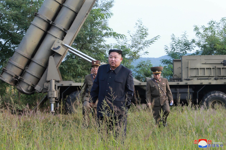 O líder norte-coreano, Kim Jong-Un, na Coreia do Norte em 10 de setembro de 2019