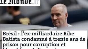 Reprodução da matéria publicada nesta quarta-feira (4) no site do jornal Le Monde.