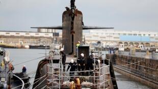 Xưởng đóng tầu ngầm Cherbourg, vùng Normandie, Pháp. Ảnh chụp ngày 11/09/2018.