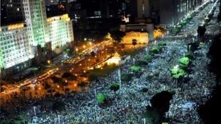Protesto no Rio de Janeiro na quinta-feira, 20 de junho de 2013.