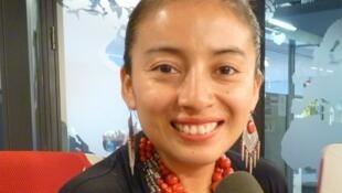La cantante ecuatoriana Mariela Condo en los estudios de RFI