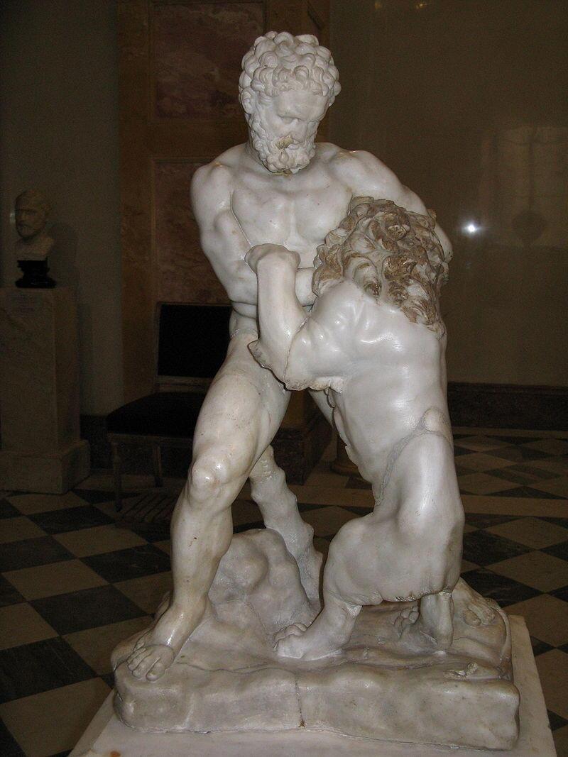 Лисипп «Геракл, борющийся с Немейским львом» (копия)