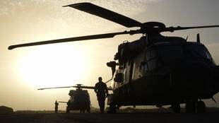 French military helicopters take part in the Sahel operation