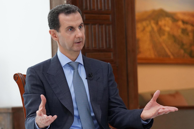Le président syrien Bachar el-Assad, lors d'une interview à Damas, le 5 mars 2020 (photo d'illustration).