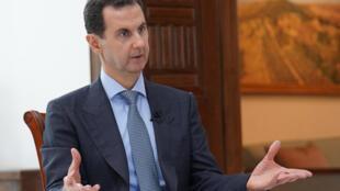 Le président syrien Bachar el-Assad lors d'une interview à Damas le 5 mars 2020.