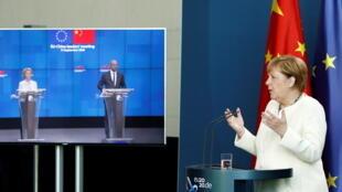 Angela Merkel - Charles Michel - Ursula von der Leyen