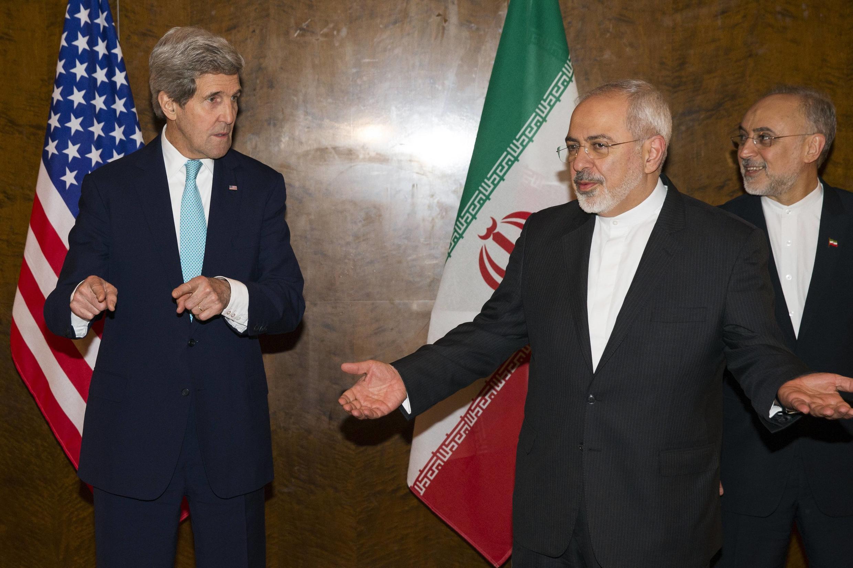 Главы внешнеполитических ведомств США и Ирана Джон Керри и Мухаммед Джавад Зариф, 15 марта 2015