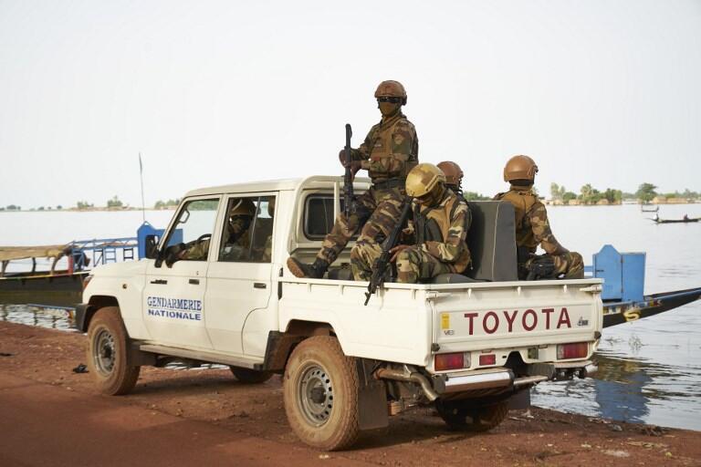Mlitaires maliens à Mopti, dans le centre du pays.