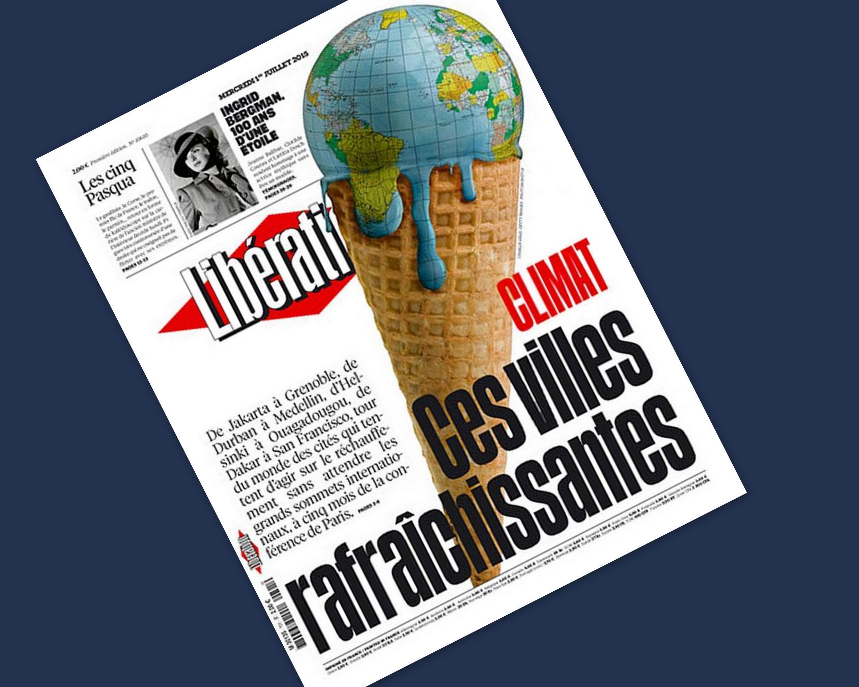 Capa do jornal francês Libération desta quarta-feira, 01 de julho de 2015.