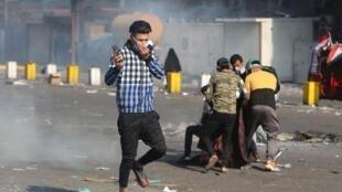 بغداد در روز یکشنبه ۱۰ نوامبر ۲۰۱۹ به میدان نبرد مبدل شده بود.