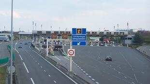 Motorway toll booths in France