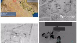 مواضع کتائب حزبالله که آمریکا به آنها حمله کرد