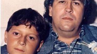 Pablo Escobar y su hijo, Juan Pablo.