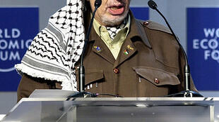 Yasser Arafat, speaking in 2001at the WEF