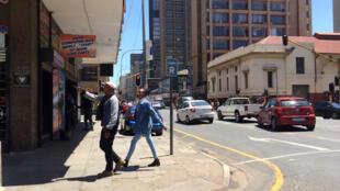 Le quartier de Braamfontein à Johannesburg. Le projet du président Ramaphosa prévoit des expropriations en zones urbaines.