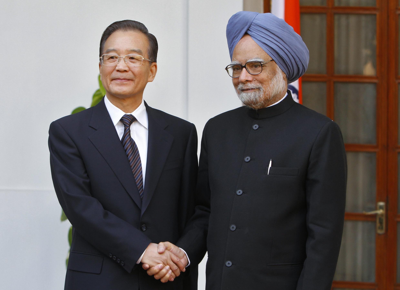 Prime Ministan China Wen Jiabao da takwaransa na Indiya Manmohan Singh a birnin New Delhi.
