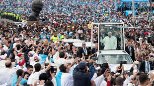 Papa Francis akiwa huko Bogota Colombia Septemba 7 2017