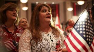 Des partisans du candidat républicain Roy Moore, lors de la primaire sénatoriale organisée dans l'Alabama, le 26 septembre 2017.