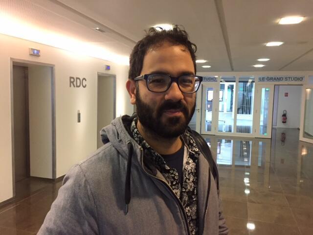 O diretor de cinema Marcelo Caetano, que assina o longa Corpo Elétrico, exibido em Paris em 20 de novembro de 2017.